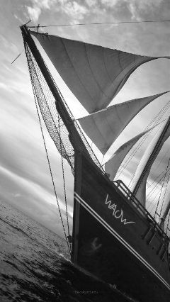 ship blackandwhite monochrome