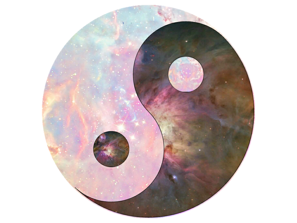 Galaxy hipster. Yinyang clipart with transparent