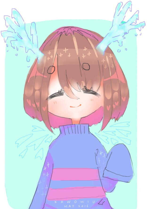 Almost done with finals ヽ(´ー`)ノ thank lord.  ((Been a bit since i posted ;0))   #undertale #digitalart