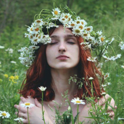 freetoedit flowers foeld forest redhair