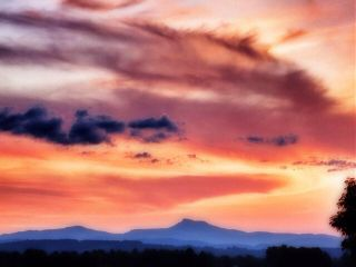 sunset nature colorful mountains vermont