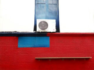 colorful photography minimal blue red