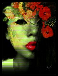 wapflowerportrait artisticportrait photoblending edit shapemask