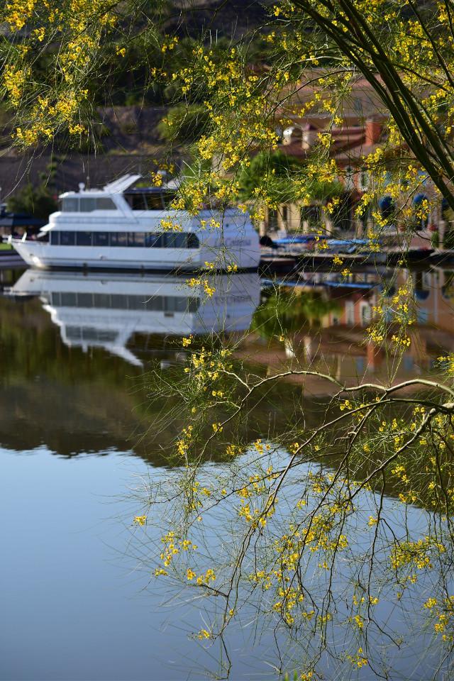 #reflections #yacht #lake #peaceful