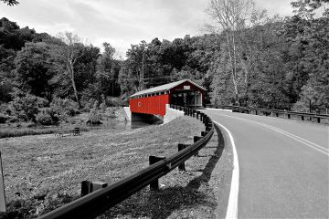 coveredbridge bridge outdoors nature blackandwhite
