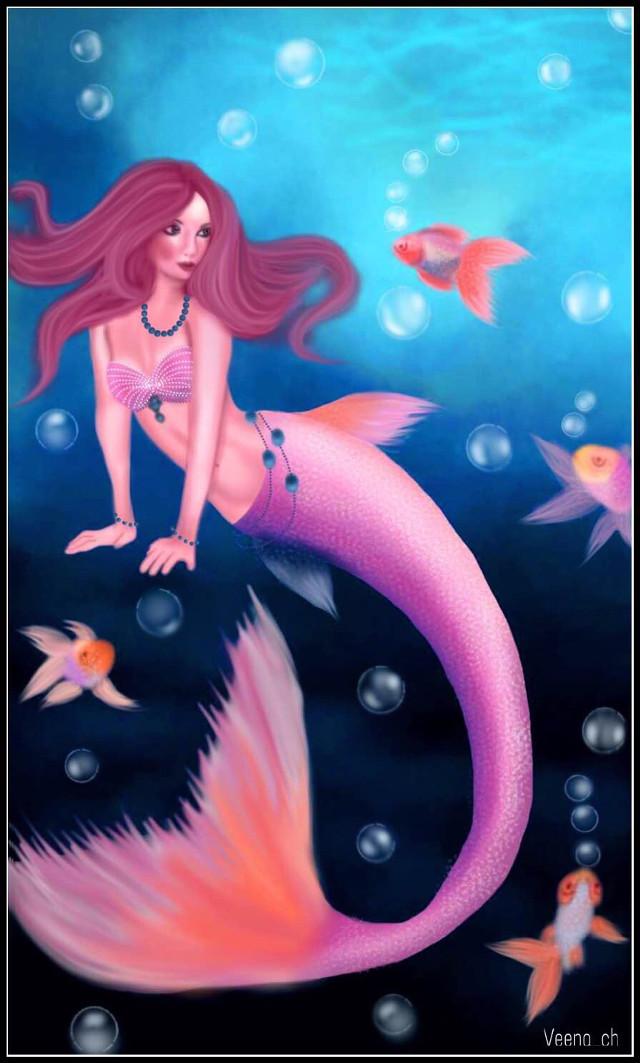 #wapshowmethesea  #drawing #mydrawimg  #art #digitalart #digitaldrawing #fish #bubbles #mermaid
