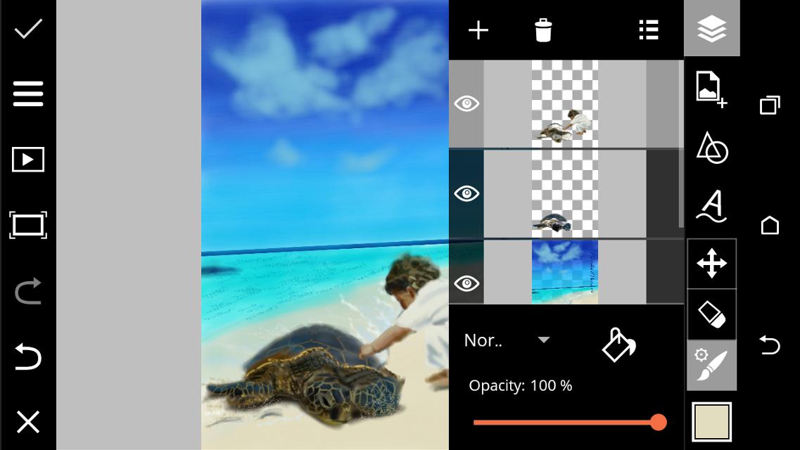 Step by step drawing# sea#cutebaby#turtle