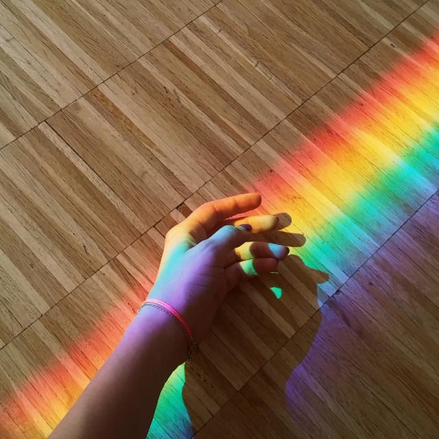 #rainbow #sun #reflection #summer #hand #beautiful #colorful #colorsplash #photography  #popart #photo #moody