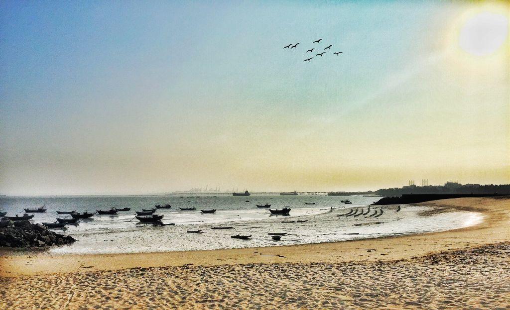 潮汐退去後  的海灘 #sea