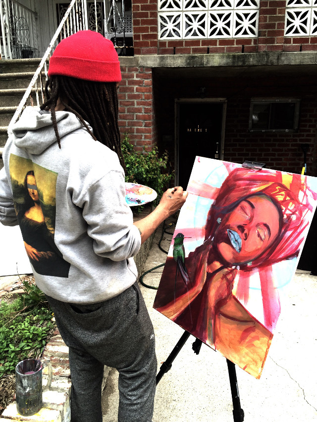 Me live painting outside