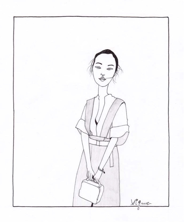 """""""Dressing is a way of life"""" Yves Saint Laurent #draw #fashion #quotes #rociovigne"""