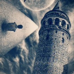 wapsidewayshike moon birds tower