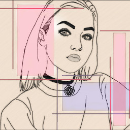 freetoedit girl cool pastel art wdpoutlines