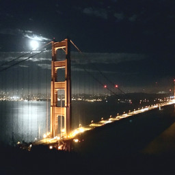 madewithpicsart strawberrymoon goldengate goldengatebridge sanfrancisco