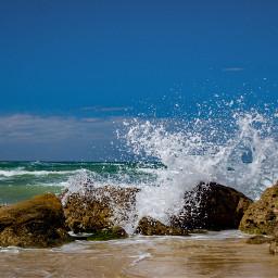 wppwindy sea wave nature beach