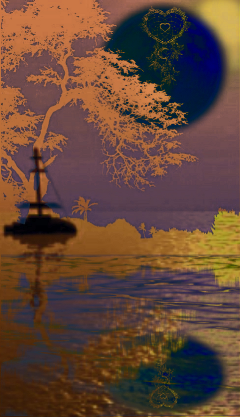 freetoedit bluemoon trees water lake