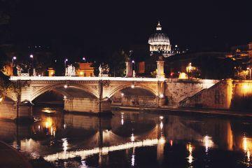aliveatnight stpeters basilica tiber tiberriver freetoedit