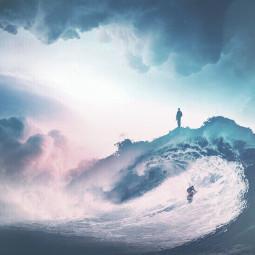 nature sea sky people edited