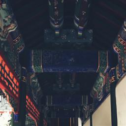 blue red corridor