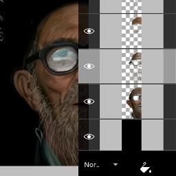 oldman glass emotions people