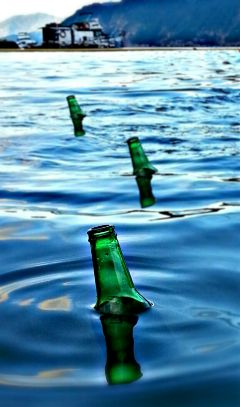 sea water bottles emotions photography