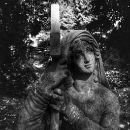 blackandwhite hdr angel monochrome cemetery