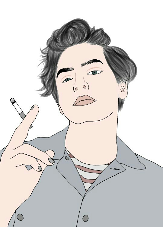 #FreeToEdit #colorful #cute #freetoedit #people #summer #tumblr #outlines #drawing #adobedraw #cool #hair #boys #cigarette #smoke #outline