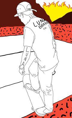 art interesting outline skater thrasher freetoedit