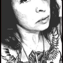 cartooneffect b womenwithink chestplate tattoo