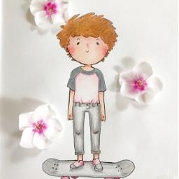 art cute doodle louistomlinson onedirection freetoedit