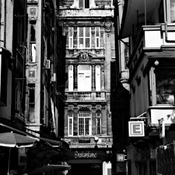 blackandwhite istanbul street architecture history