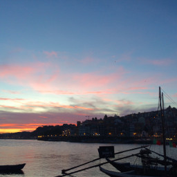 porto sunset sky douro travel freetoedit