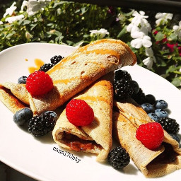 crepes fruits lifestyle photography freetoedit