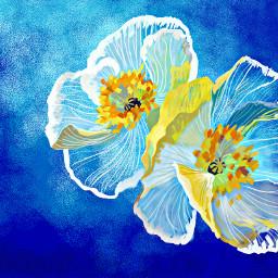 wdpfloralpaper flower flowers floral water beautiful natural art digitalart draw nature plants colorful blue artist FreeToEdit