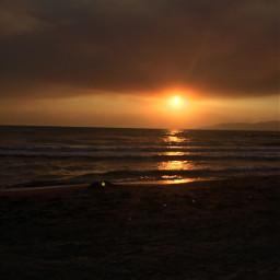 beach sunset natural