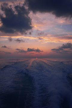 dogereffect sunset ocean sky clouds freetoedit