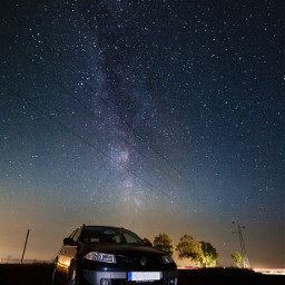 cars photography longexposure night milkyway