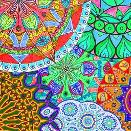 mandalas mandalaart colorful mandalamania dreaming