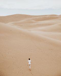 freetoedit sand human wander girl