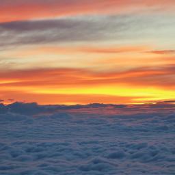 nature sky sunrise seaofclouds