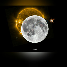 freetoedit moon sun eclips eclipse