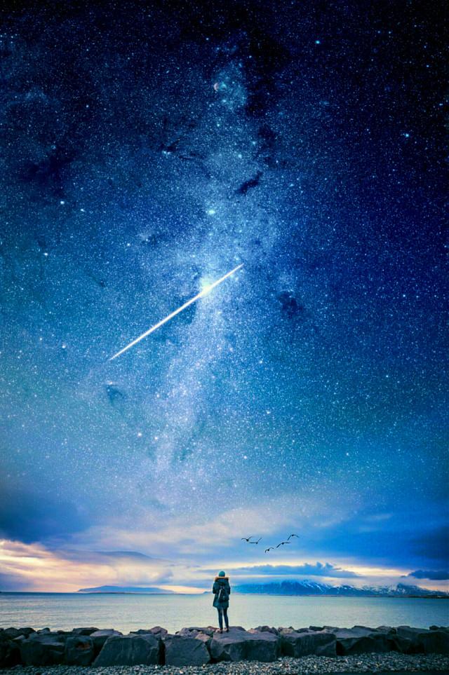 MAKE A WISH  O.P. Unsplash  #edited #stars
