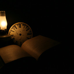 vintage time books lamp canon